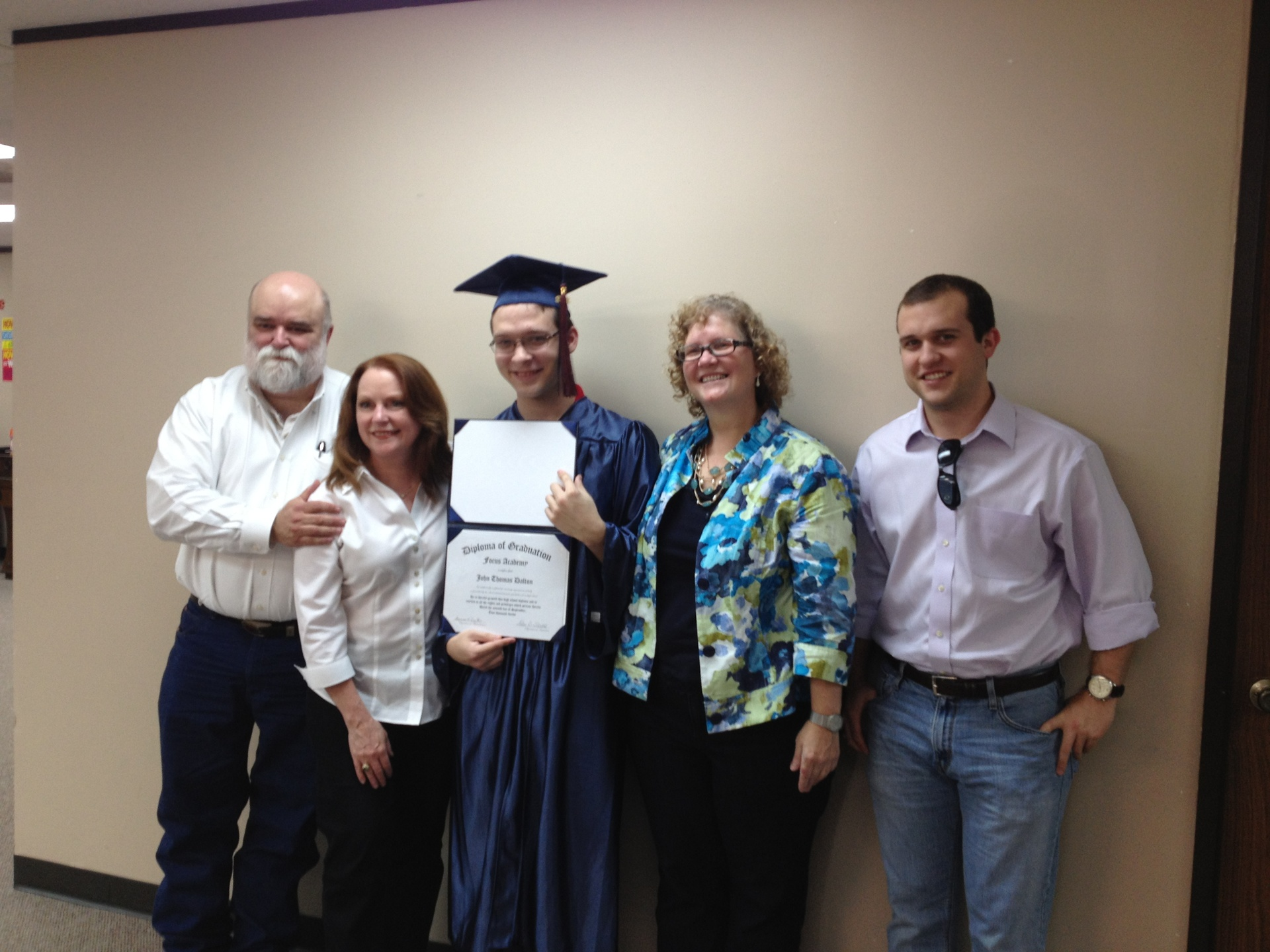 Our first Katy Grad and family